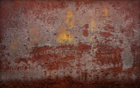 LITTLE RED RUSTING HOOD - a ventilation hood on an old building (the wolf never saw it coming - hahaha)